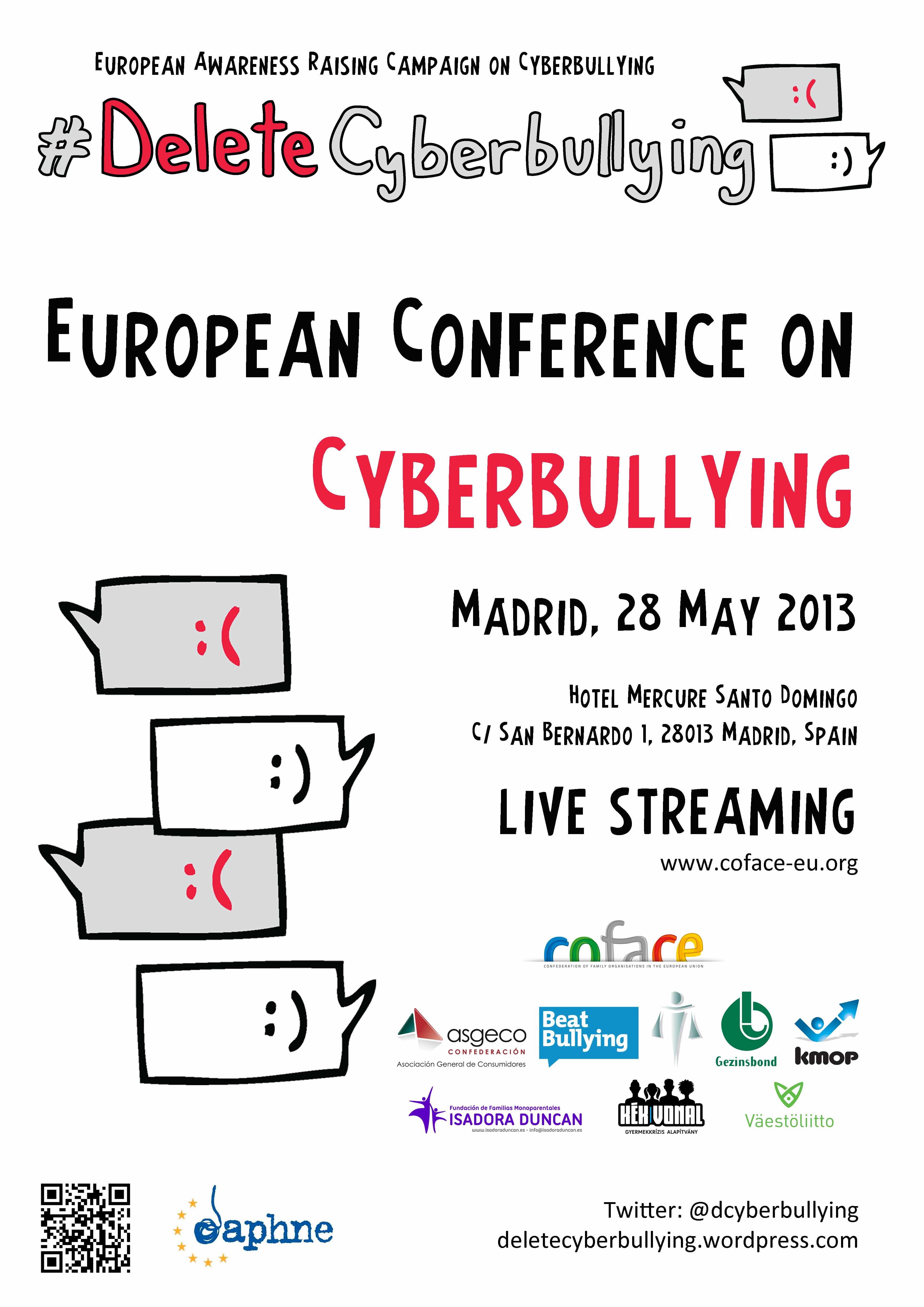 Madrid ser sede de la primera conferencia europea sobre - Casos de ciberacoso en espana ...