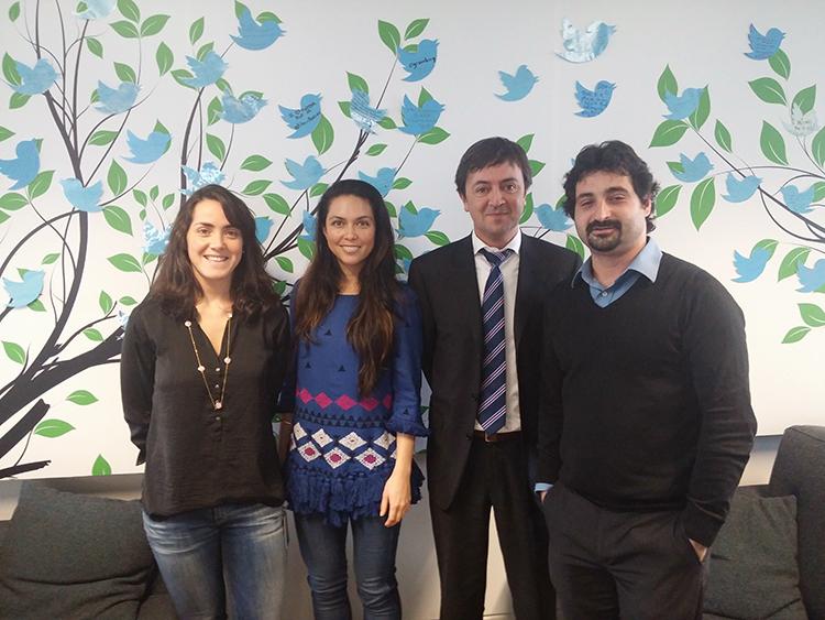 Patricia Cartes, Directora Global de Seguridad de Twitter; Kira O'Connor, Responsable de Seguridad de Twitter para Europa, África y Oriente Medio; Jorge Flores, Fundador y Director de PantallasAmigas y Urko Fernández, Director de Proyectos de PantallasAmigas
