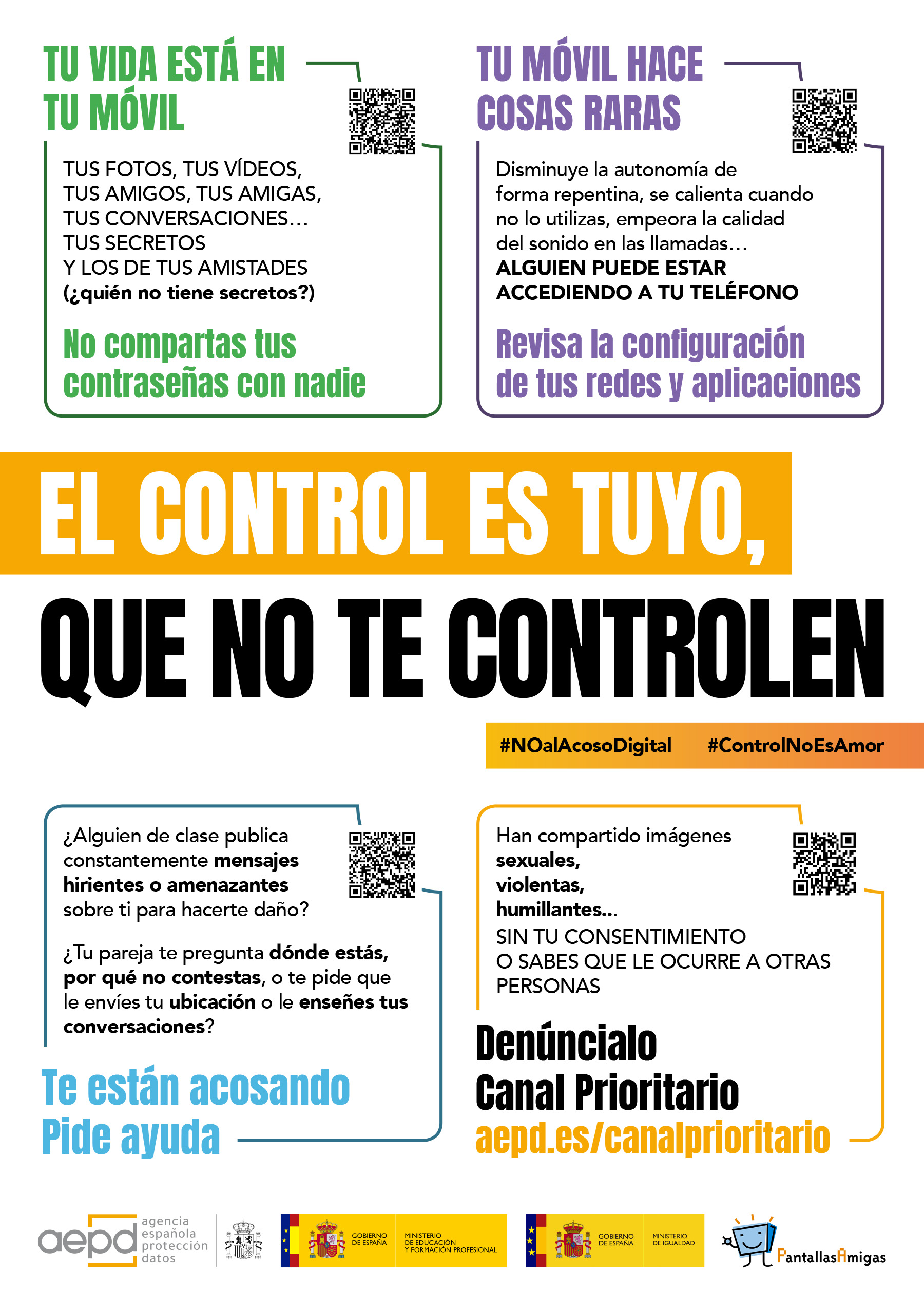Cartel Que no te controlen